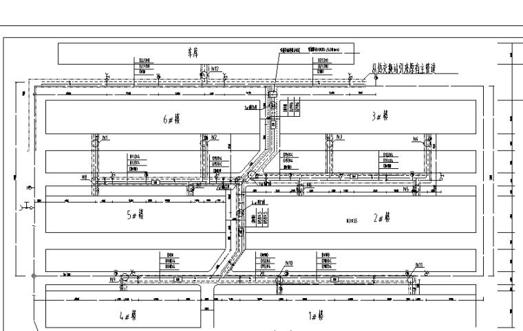 某小区室外给排水管网施工图设计(含阀门井大样)_2