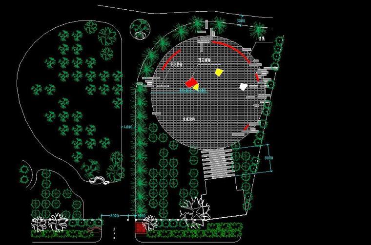 大连大孤山国家森林公园入口景观设计包含CAD图纸
