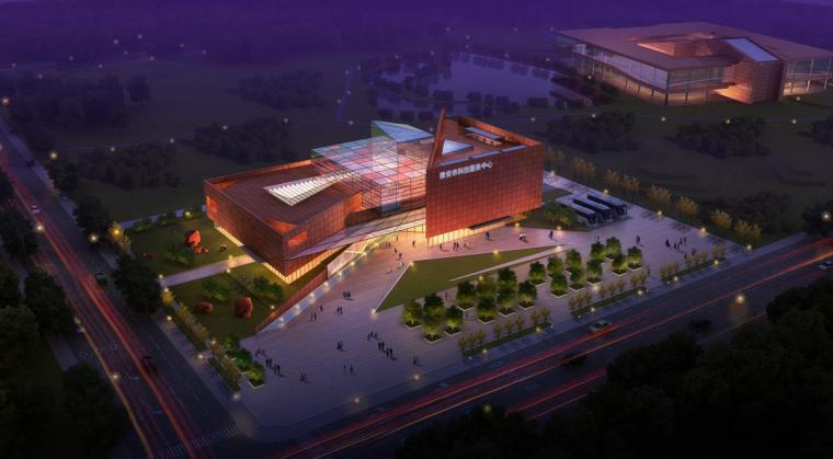 [四川]现代风格石材外墙科技展览馆重建建筑设计方案文本