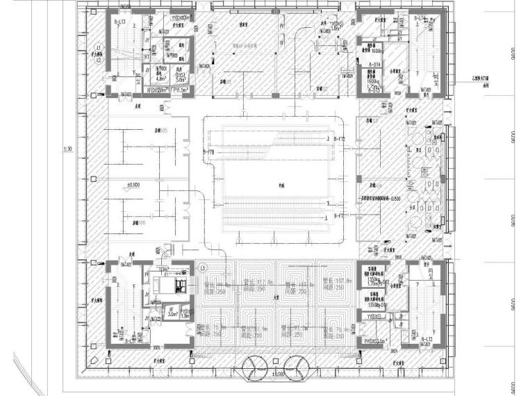 [江苏]标杆商业建筑空调通风及防排烟系统设计施工图(制冷机房)