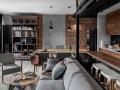 黑灰色经典温馨的住房