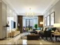 正商华钻120平三室两厅简欧装修效果图,奢华大方