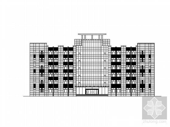 某矿业办公楼、食堂装饰幕墙工程建筑施工图