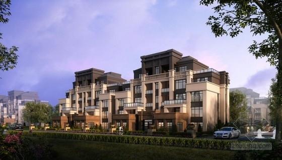 古典风格住宅区规划效果图