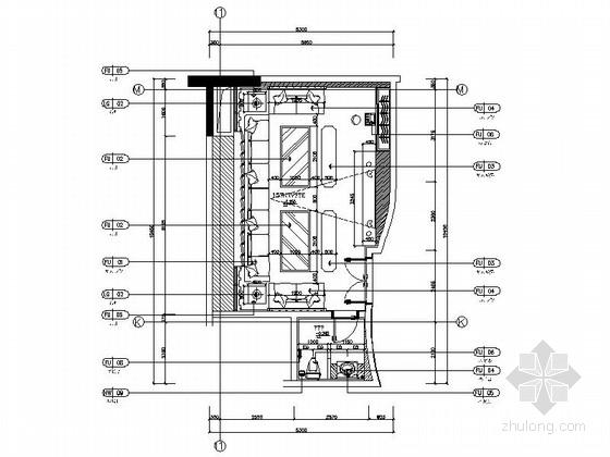 [西安]高档典雅四星级酒店KTV包间装修施工图(含效果)