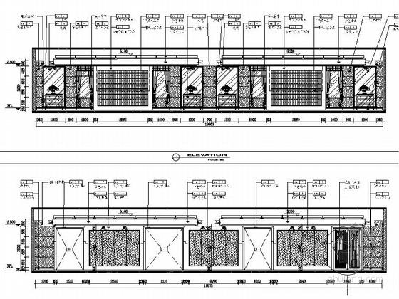 [江苏]气势恢宏旅游休闲花园式酒店附楼室内装修施工图(含效果)休息大厅立面图