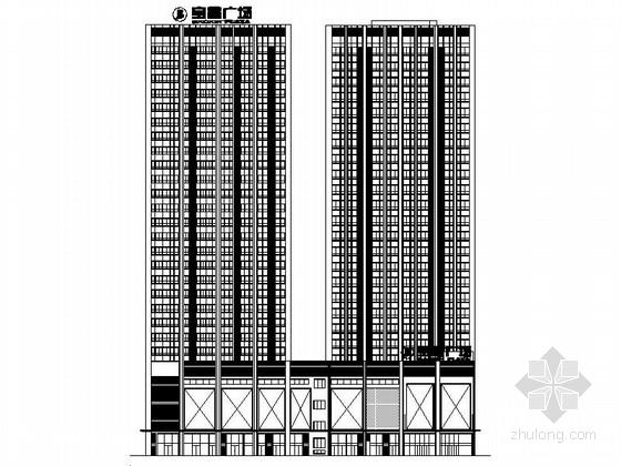[内蒙古]25层钢架结构商务办公建筑施工图
