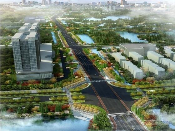 """[江苏]""""水韵新都""""城市景观改造设计方案(知名设计)"""
