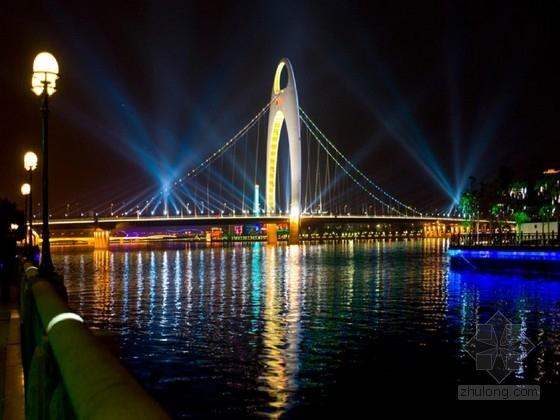 [广东]独塔悬索桥非对称空间自锚式缆索系统设计图纸56张(两根主缆 每根主缆33股)