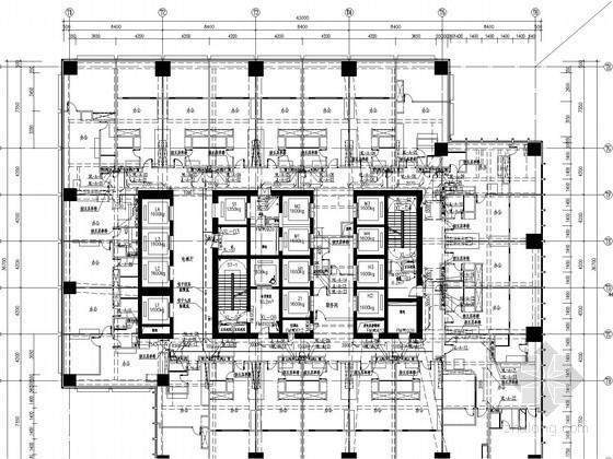 [江苏]超高层办公综合楼给排水消防施工图(水喷雾消防系统)