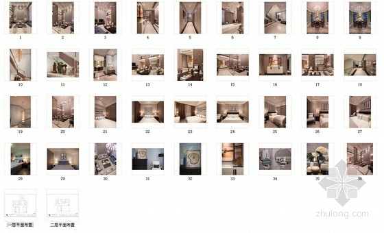[杭州]时尚清新又精致的别墅设计方案(含实景图)-时尚清新又精致的别墅设计方案(含实景图)缩略图