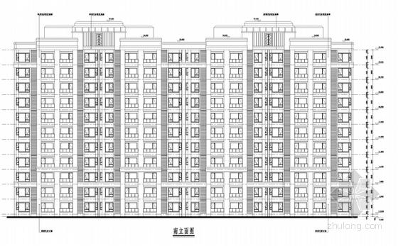 超高层Artdeco风格住宅区规划剖面图