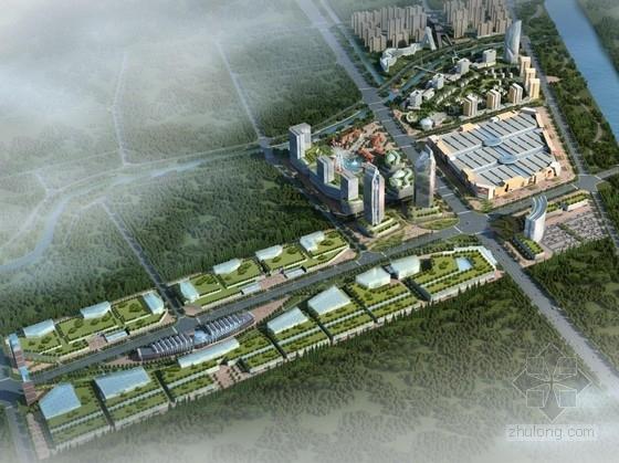 [湖北]滨河现代风格城市综合体及单体设计方案文本(含CAD)