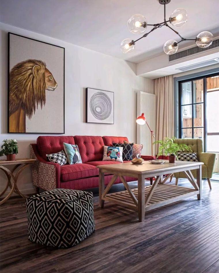 136㎡美式设计,家庭式壁炉电视墙!特别有范儿
