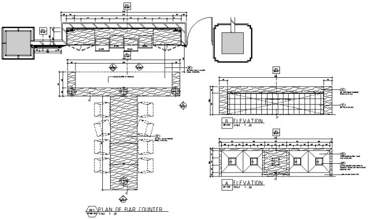 超现代法式餐厅及雪茄吧设计施工图(附效果图)