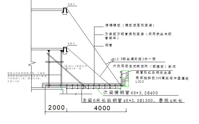 [福州]中建外架悬挑水平防护棚施工方案_2