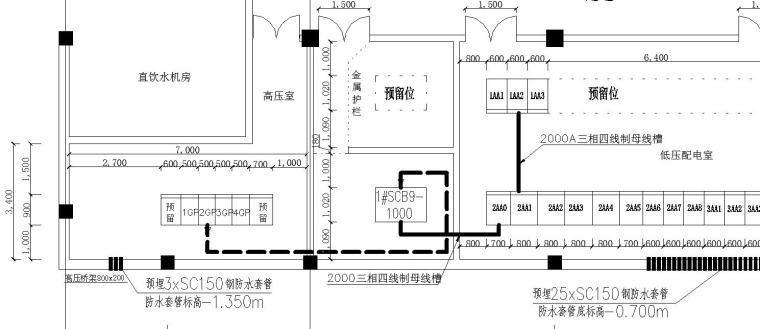 某别墅项目配电系统图