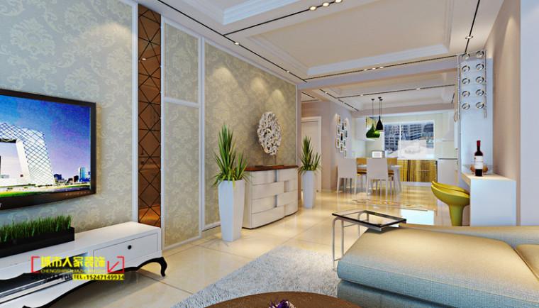 锡林浩特尚都国贸120平米现代风格效果图