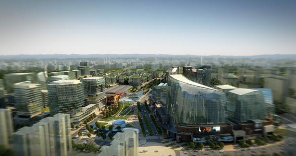 [浙江]自然文化现代化新兴城市次中心景观方案设计