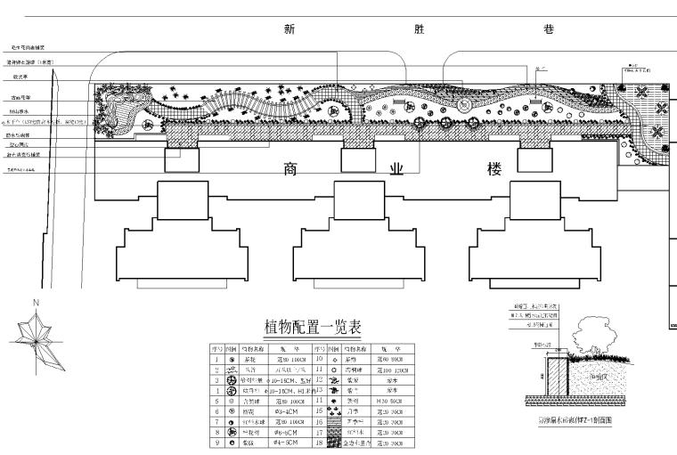 21套屋顶花园CAD施工图(20)某办公大楼屋顶花园