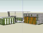 展示中心建筑模型设计