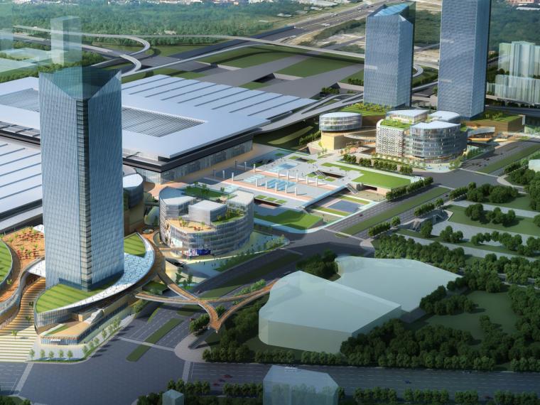 现代超高层商业综合体高铁枢纽中心规划设计方案文本(PDF)