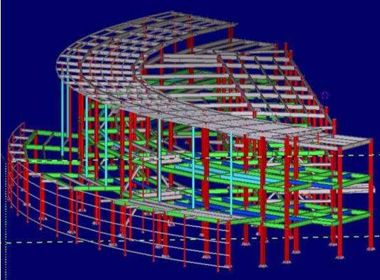 PKPM中混凝土构件配筋与钢构件验算简图