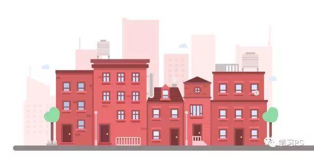 [AI教程]Illustrator绘制卡通风格的城市建筑插画
