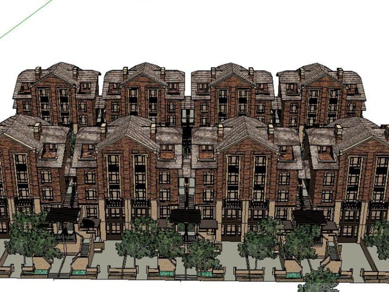英伦风别墅建筑SU建筑模型