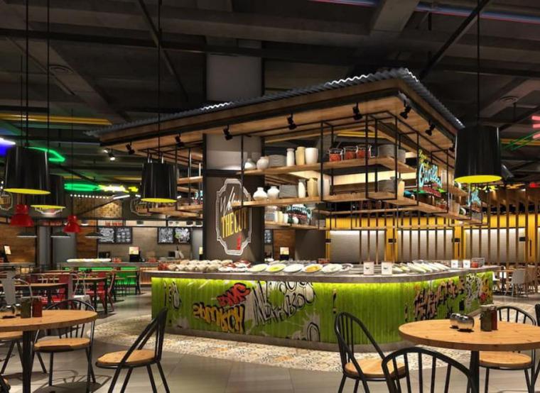 (原创)美食广场设计案例效果图