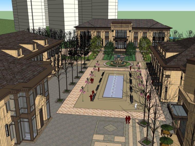 现代商业街两层资料下载-商业街,休闲娱乐场所,现代主义风格,2层\商业区
