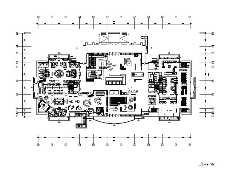 简约精典办公室设计CAD施工图(含效果图)