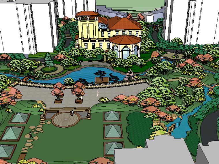 [住宅区景观]欧式住宅小区精细景观设计