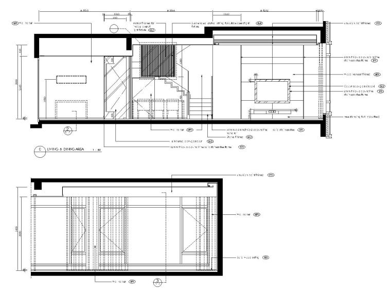 [香港]现代轻奢风格复式楼层装修全套施工图(附效果图)_5
