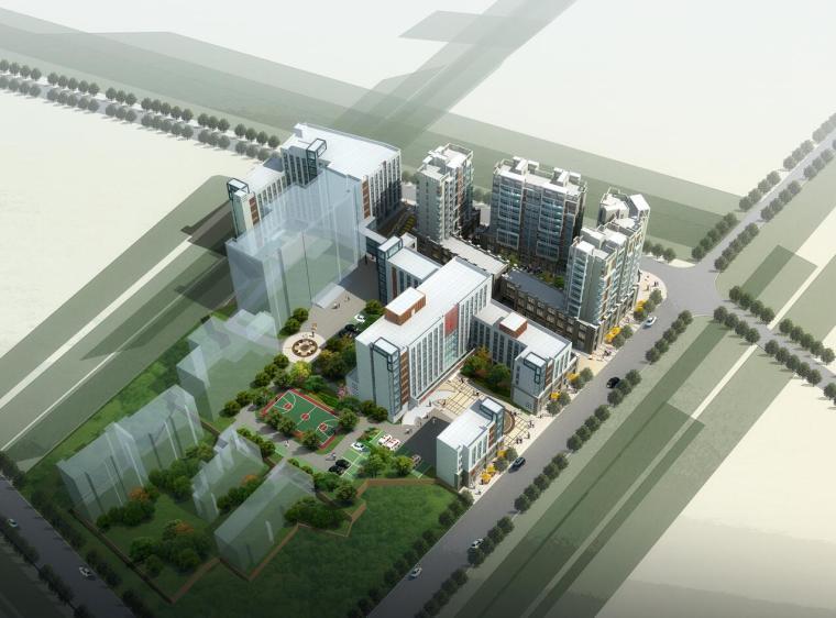 [湖南]某人民医院建筑设计方案文本(JPG+CAD+67页)