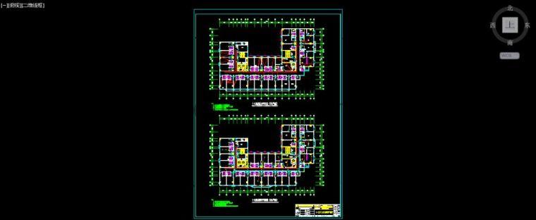 精选CAD设计高层建筑室内施工图纸