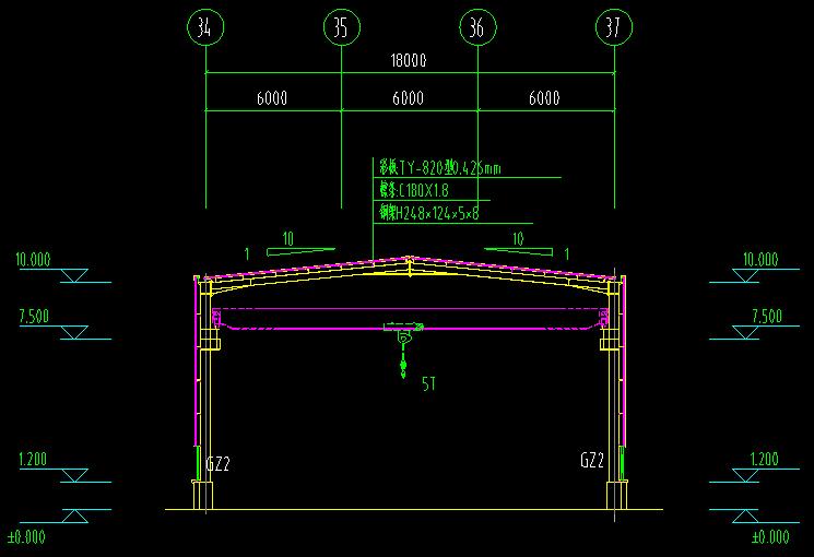 西安公司钢结构工程CAD_4