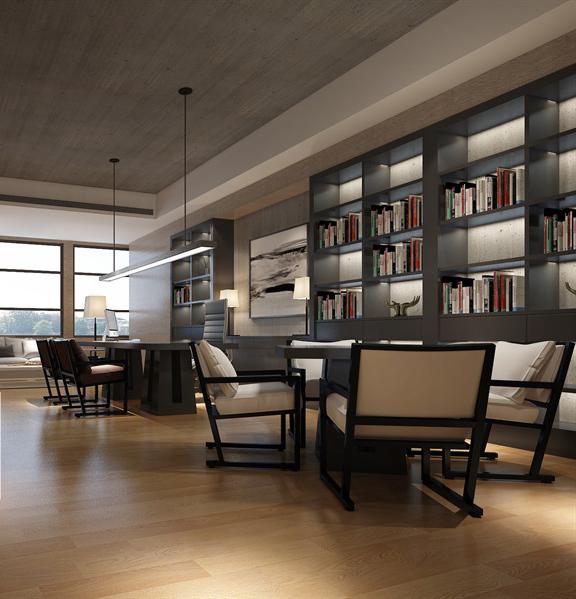 新中式私人书房3D成套模型