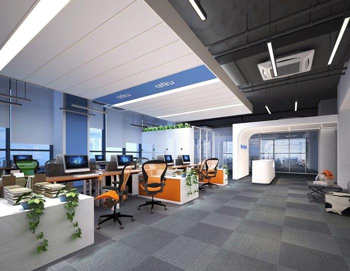 金融投资公司办公室装修设计案例效果图-创意方案