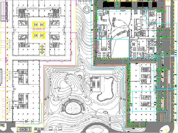 城市地块室外道路铺装工程CAD图纸48张