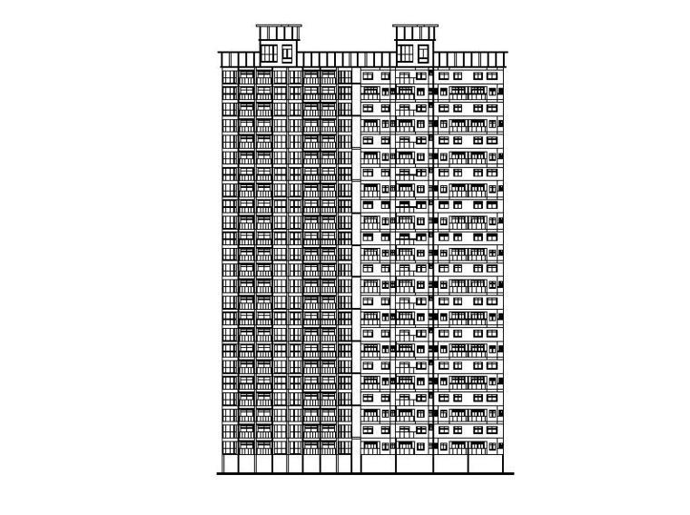 [深圳]高层塔式住宅建筑方案图(含6套方案)