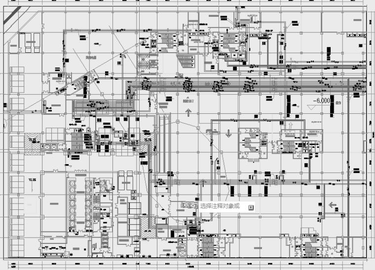 [甘肃]知名商业购物中心暖通全系统设计施工图(采暖,机房设计)