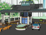 中式居住小区入口su模型(10套)