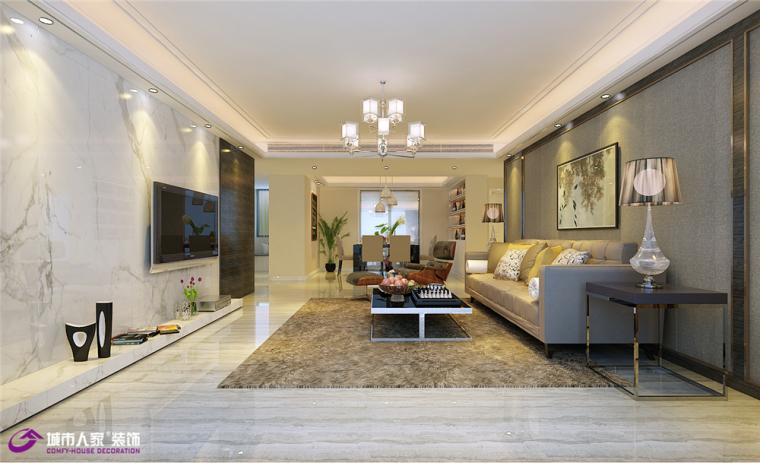 济南红叶林两室两厅装修效果图