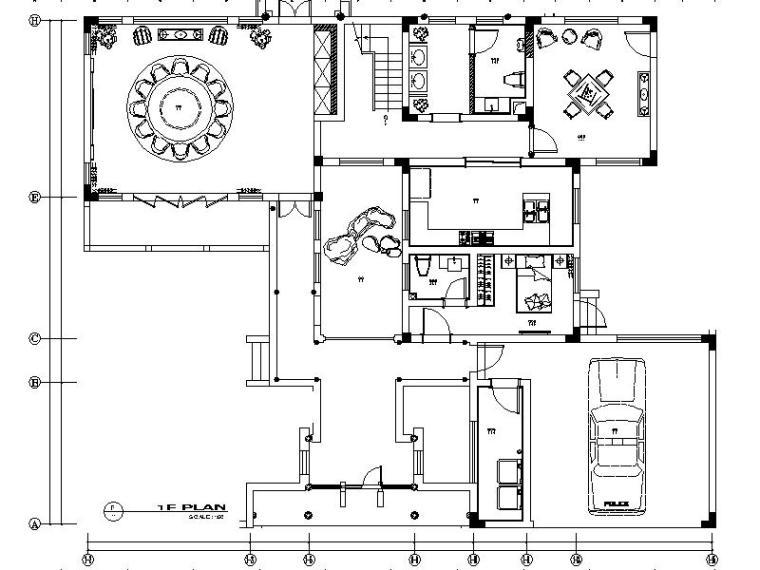[常熟]新中式豪华别墅设计施工图(含效果图)