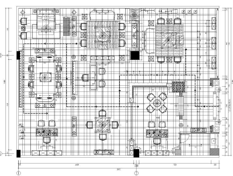 北京大家之家室内装修施工图设计(附效果图)