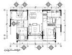 [广东]一套样板房设计CAD施工图(含效果图)
