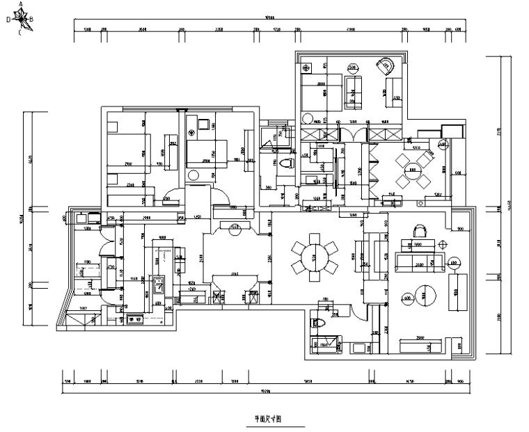 【辽宁】蓝白基调浪漫住宅空间设计施工图(附效果图)_4
