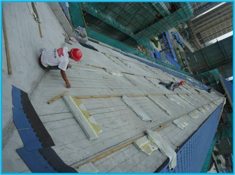 [QC成果]提高屋面沥青瓦粘贴一次合格率