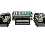 [SU组合模型]新中式古风沙发组合模型下载